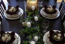 Decor TABLESCAPES / Tables decorated for all seasons and occassions / by Simone (Doberman's by the Sea)