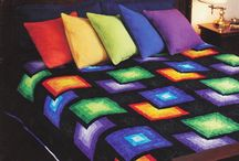Black and rainbow quilt ideas / by Joanne Kerton