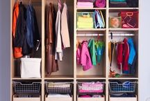 Closet for mud room