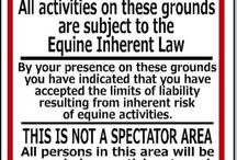 Equine Related signs we sell...