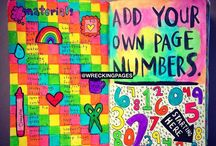 Wreck this journal ideas page numbers