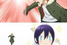 Noragami / A girl gets hit by a bus, so two hobos start following her around
