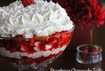 Deserts / Strawberry trifle