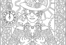 Colouring Pages / Artistic therapy for the young at heart...
