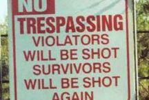funny signs and random sayings