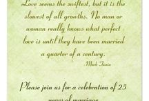 25 wedding anniversary invitations