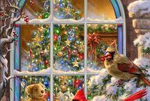 vianočné ilustrácie, animácie