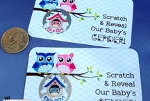 Gender Reveal Scratch Off Cards / Reveal the gender of your baby in a fun and memorable way...with a scratch off!