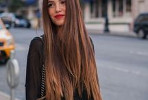 Long straight hairstyles / Most popular long straight hairstyles - below shoulder length