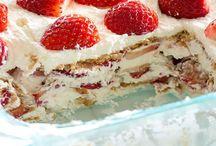 Dessert aux fraises sans cuisson