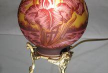 lampes pates de verre ancienne
