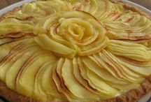 crostata di crema pasticcera e mele