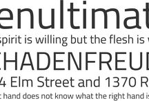 Fonts / Fonts combinations, Sexy Typefaces