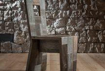 Le sedie Wood Art / Un trono non è che un pezzo  di legno rivestito di velluto