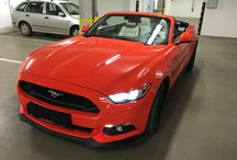 Millan Weekender / Brand new Ford Mustang in competition orange convertible MY 2016 / ceramic interior