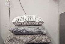 knited pillows