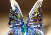 Бабочки  из стекла / Butterfly glass