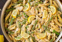 pasta kip asperges