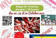 Stages de vacances / #Stage de #vacances d'#anglais avec cours en visioconférence pour la #Toussaint 2015 les 26,28 et 30 octobre !  http://c2cteaching.com/stages-de-vacances/  Plus d'infos par téléphone au 0972 466 491