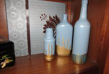 Painted items/ bottles