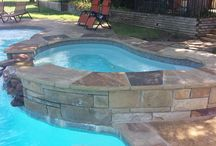 The Perfect Country Setting Swimming Pool in Frisco, Texas / Here is the perfect country setting swimming pool by Natural Stone Pools!