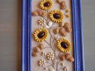 tablou din seminte și cafea
