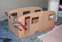 construction caravane miniature