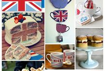 Baby Shower Ideas / British-themed baby shower!