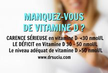 La vitamine D / LA CARENCE EN VITAMINE D est maintenant reconnue comme une pandémie.
