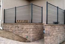 Patio Block Seat Walls / Makers of concrete block have gotten better at producing patio seat wall options.   Take a look at some of the types available