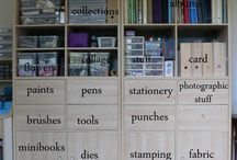 Art studio organization ideas / by Amanda Neumeier-Kist