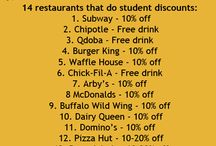 student discounts eating out