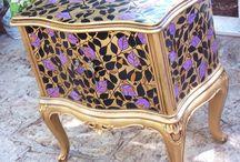 mobili dipinte a mano -autore M Sambur / mobili  restaurate e dipinte a mano -autore M Sambur