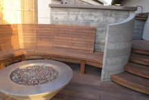 Our Designs / Our custom designs at Wells Concrete Works. #firepit #concretecountertops #indoor #outdoor