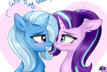Starlight Glimmer and Trixie
