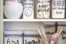 Organised kitchen cupboards
