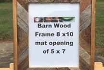 Barnwood Frames / The wood for these frames are from a over 100 year threshing barn.