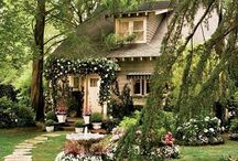 cottage houses and gardens