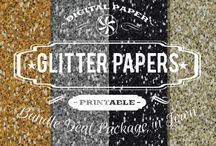 GLITTER TEXTURES / DIGITAL PAPERS - GLITTER TEXTURES BY DIGITAL PAPER SHOP