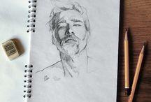 портреты, идеи, наброски