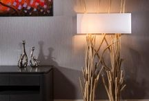 Unique Driftwood Lighting / Quality Modern Driftwood Table and Floor Lamps. Truly Stunning & Unique Driftwood Styles with Elegant cotton shades. Handmade in Portugal