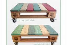 mesa ratona palets