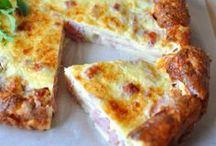 quiche sans pate et pizza legere