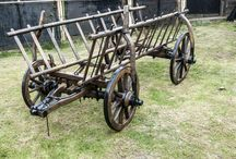 """Vintage Handmade Oxcart """"Dacii Liberi"""" / Restored Oxcart  This oxcart I bought it from a 55-60 years old person with tell me that he have it from his gradfather. So it's +50 years old. I restored it as good as I could, PRICE: 500 Euro"""