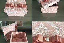 caixas e bandeijas decoradas