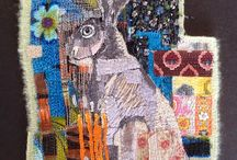 Contemporary Textile Art and Embroidery / Innovative interesting images and surfaces created by thread and cloth
