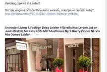 Trots ! / We zitten bij de leukste tien winkels van Leiden!