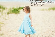 Madelyn Halter Dress / Creative Inspiration for the Handmaiden's Cottage Madelyn Halter Dress Girl's PDF Sewing Pattern