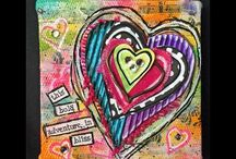 Art Tutorial Videos / Youtube videos about mixed media, art journaling, paper crafting, card making