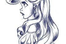Disney Prinzessinnen Silhouette